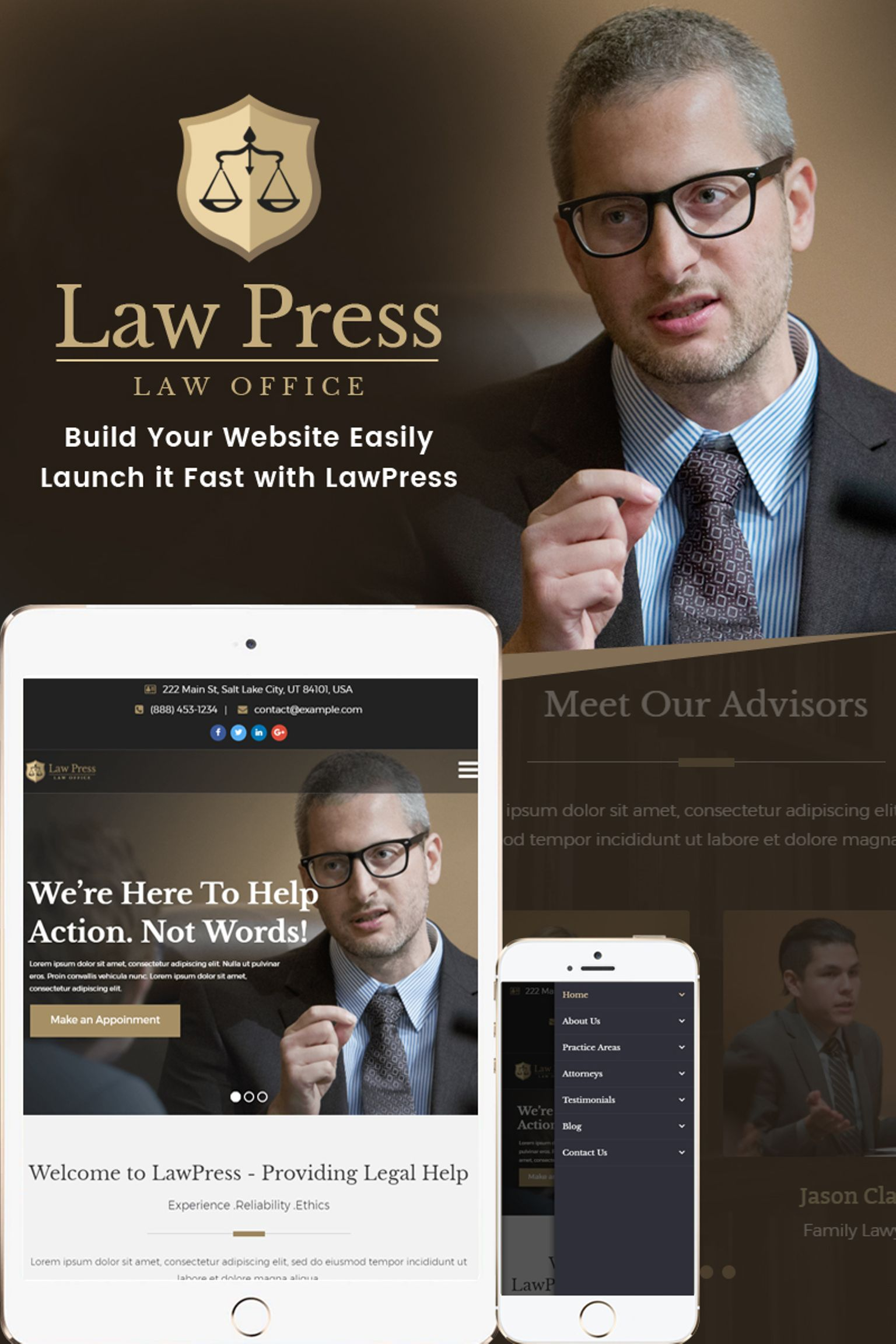 LawPress Law Agency WordPress Theme