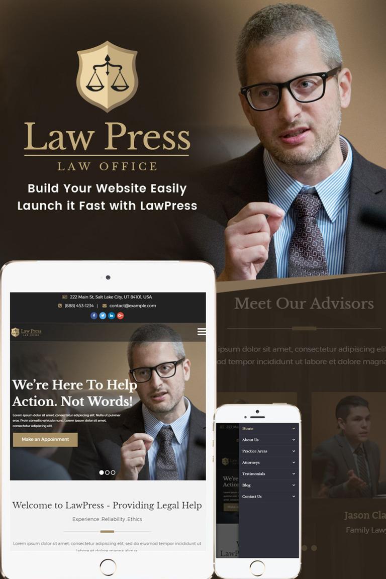 LawPress - Law Agency WordPress Theme Big Screenshot