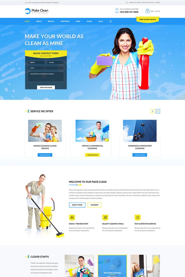 WordPress Theme #65553 für Reinigung