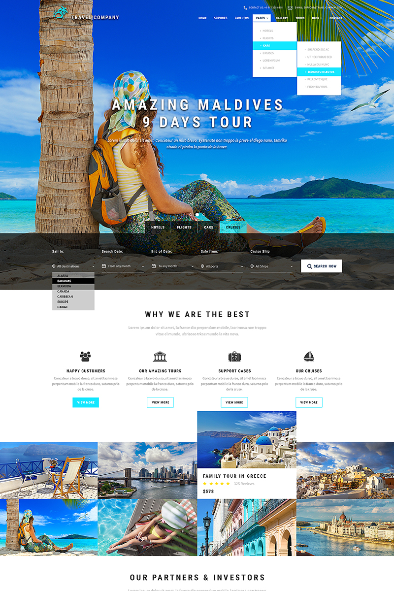 Travel Booking Website Template #65686
