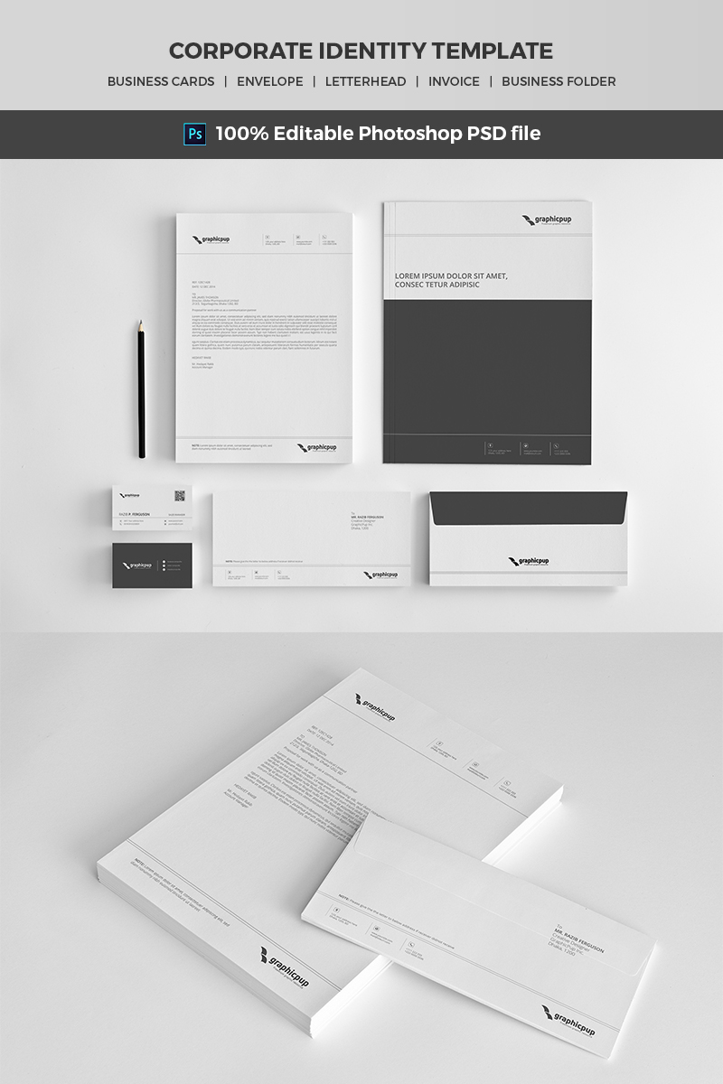 Ursa - Minimal Corporate Identity Corporate Identity Template #65488