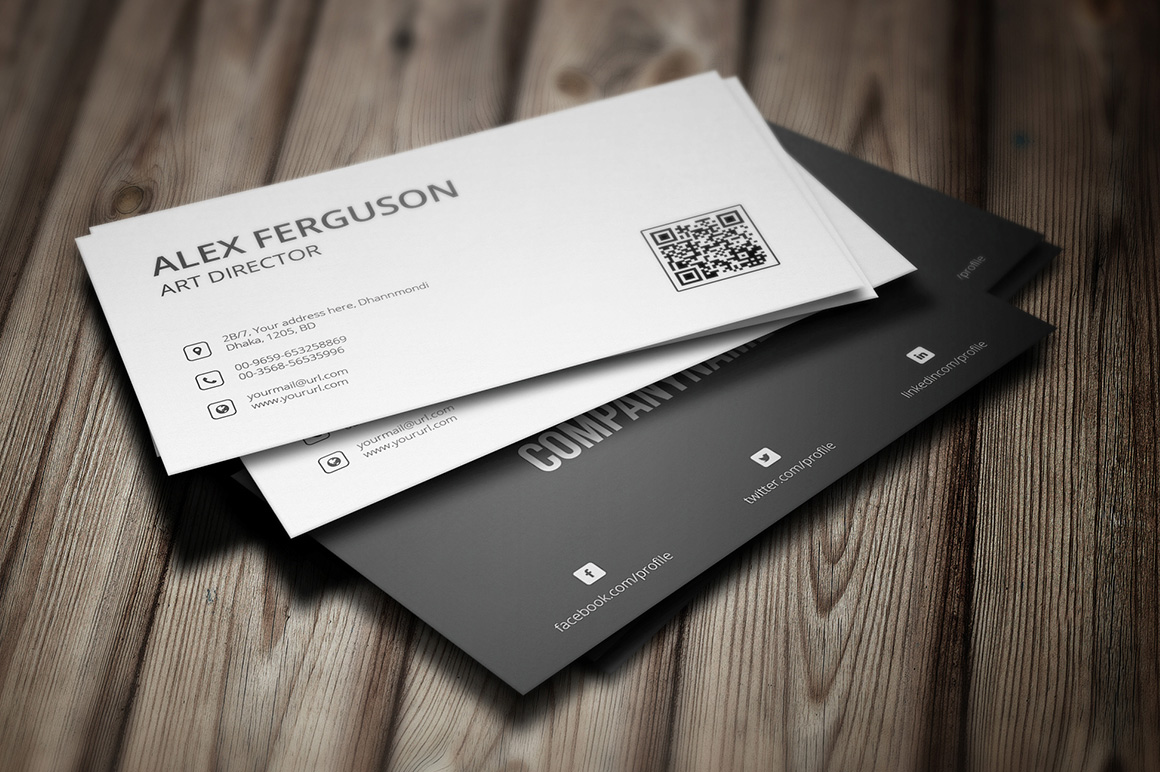 Minimal Business Card Corporate Identity Template #65442