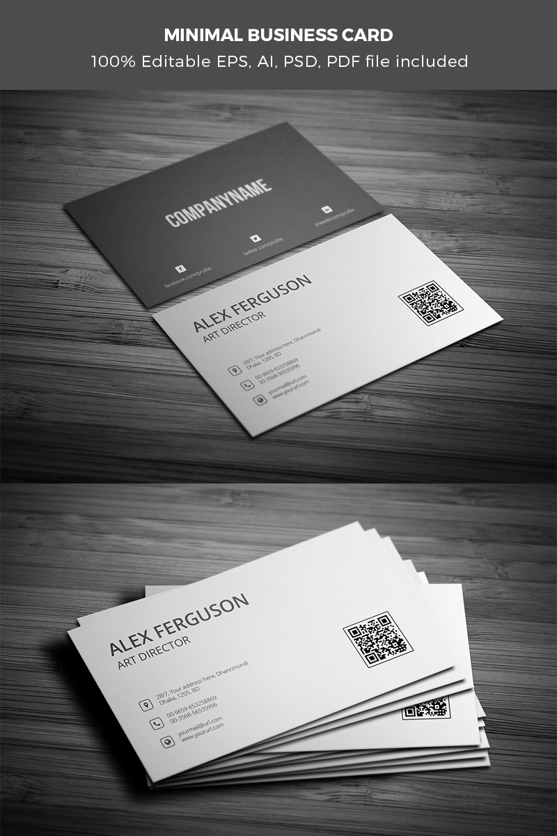 Minimal Business Card Corporate Identity Template #65442