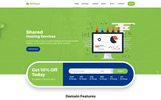Website template over Domain registrar