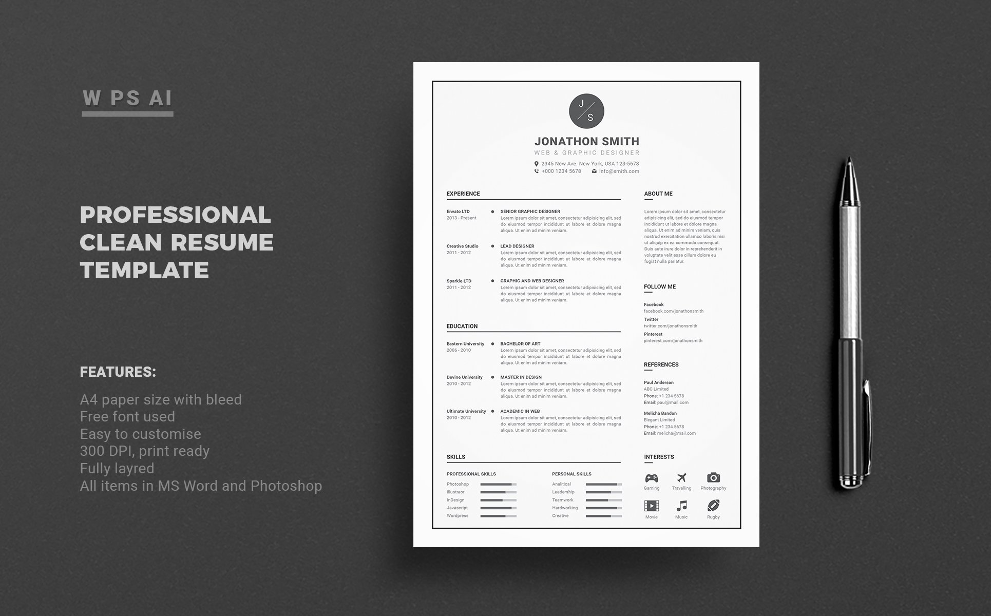 john smith resume template  65425