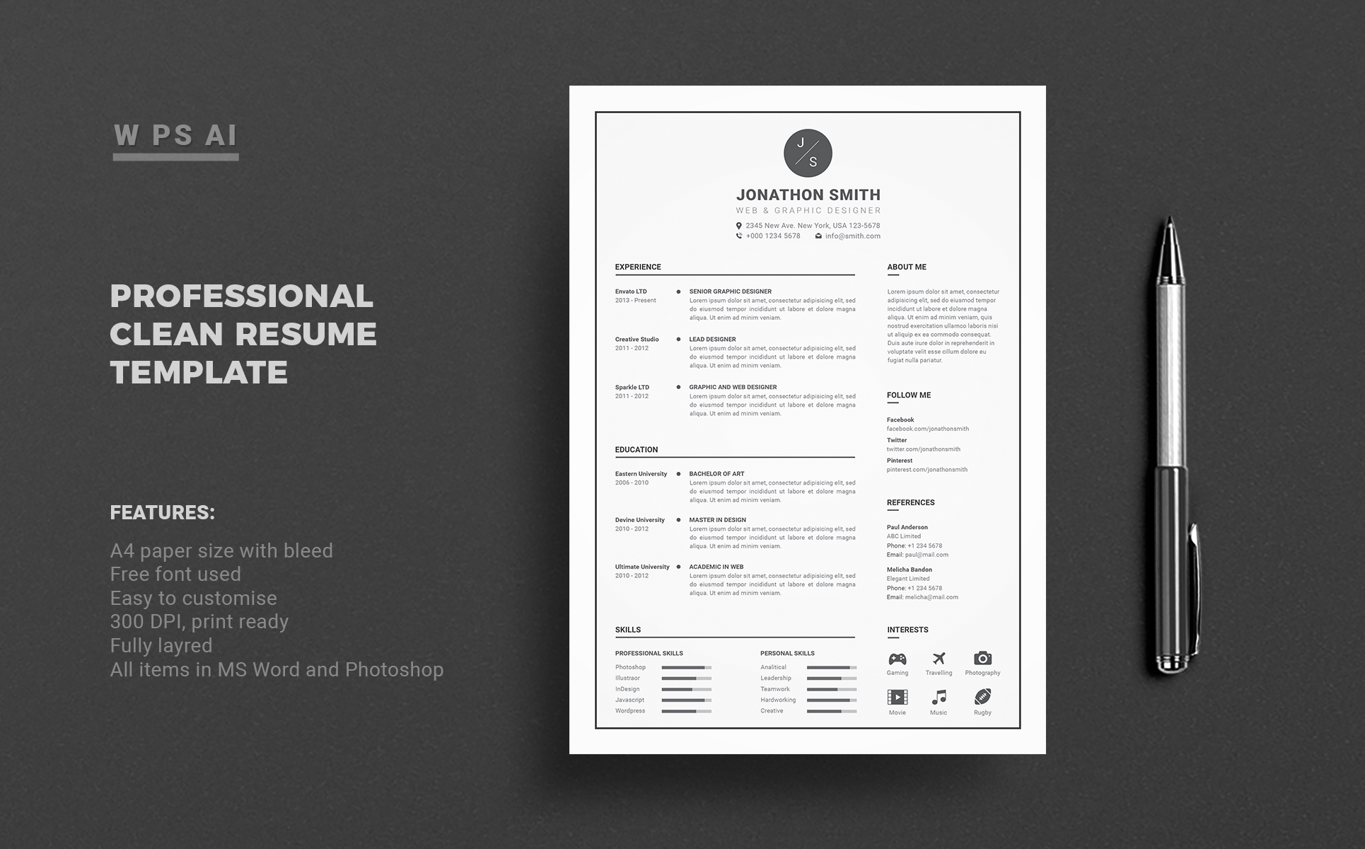 Resume John Smith Resume Template 65425