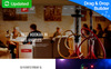 Reszponzív Hookah Bar & Lounge Moto CMS 3 sablon New Screenshots BIG