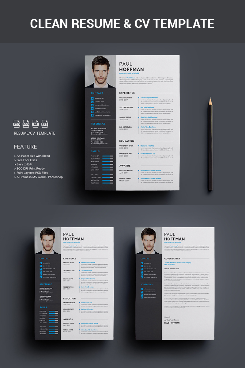 40 best 2018s creative resumecv templates printable doc resume paul hoffman resume template yelopaper Image collections