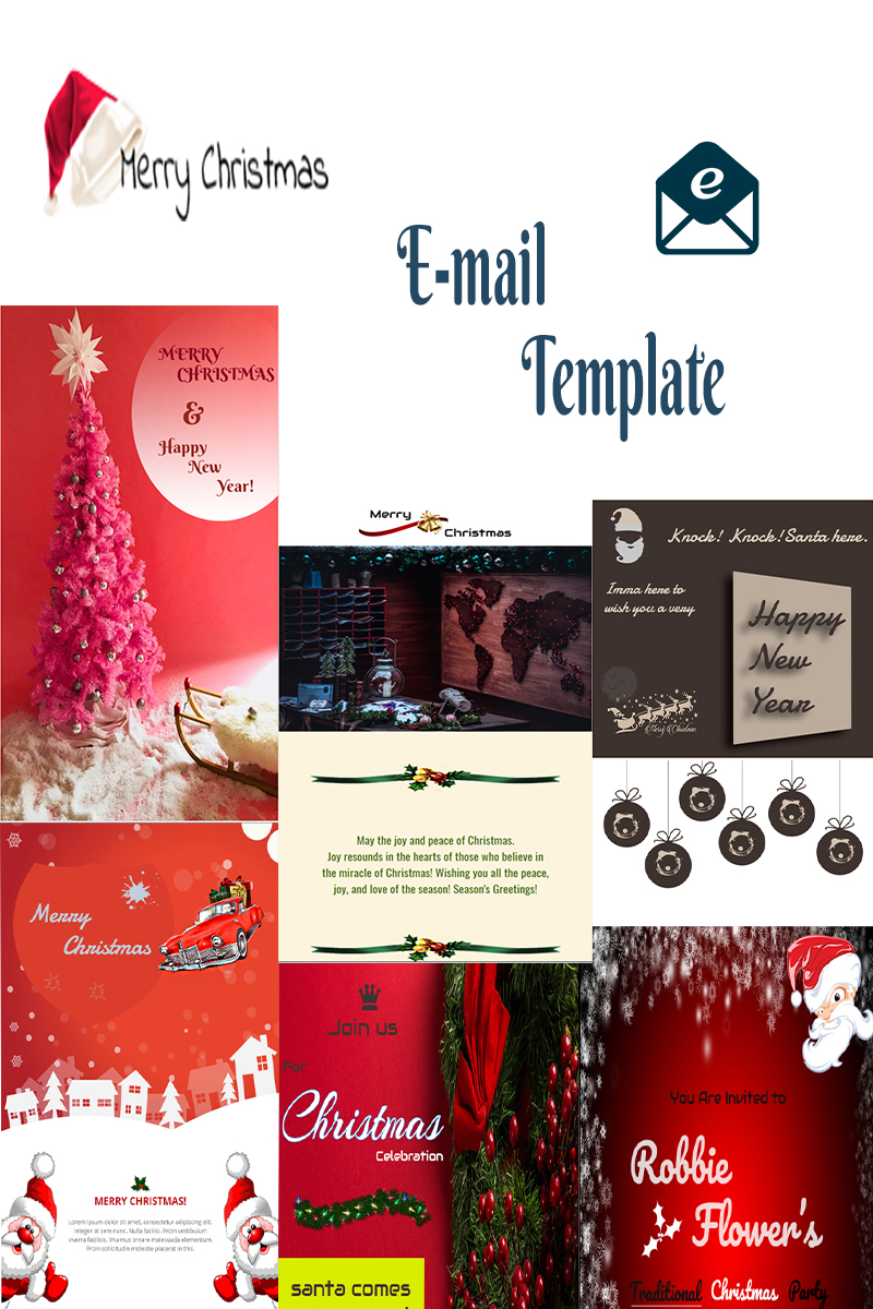 merry xmas responsive newsletter template 74410