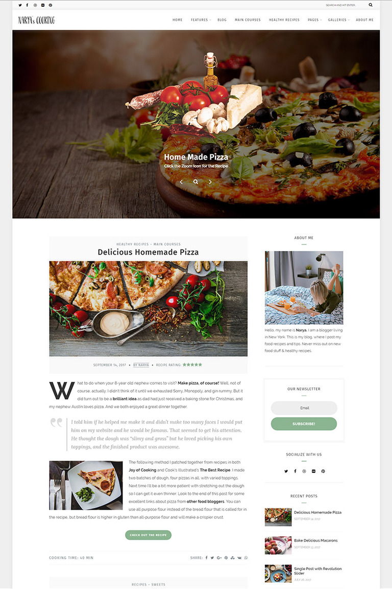 Narya food blog for cooks wordpress theme 65471 narya food blog for cooks wordpress theme big screenshot forumfinder Gallery