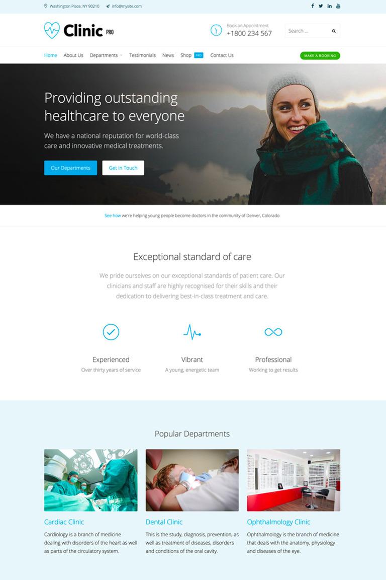Clinic Pro WordPress Theme Big Screenshot