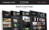 Fiona -  Photo Gallery Portfolio Website Template