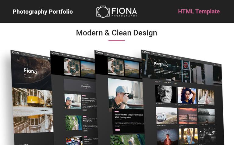 Fiona - Photo Gallery Portfolio Website Template #65436