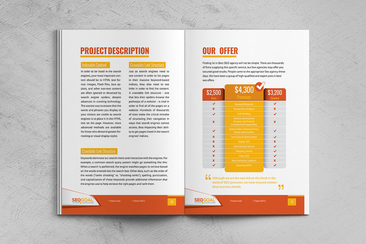 Seo Project Proposal Corporate Identity Template 74909