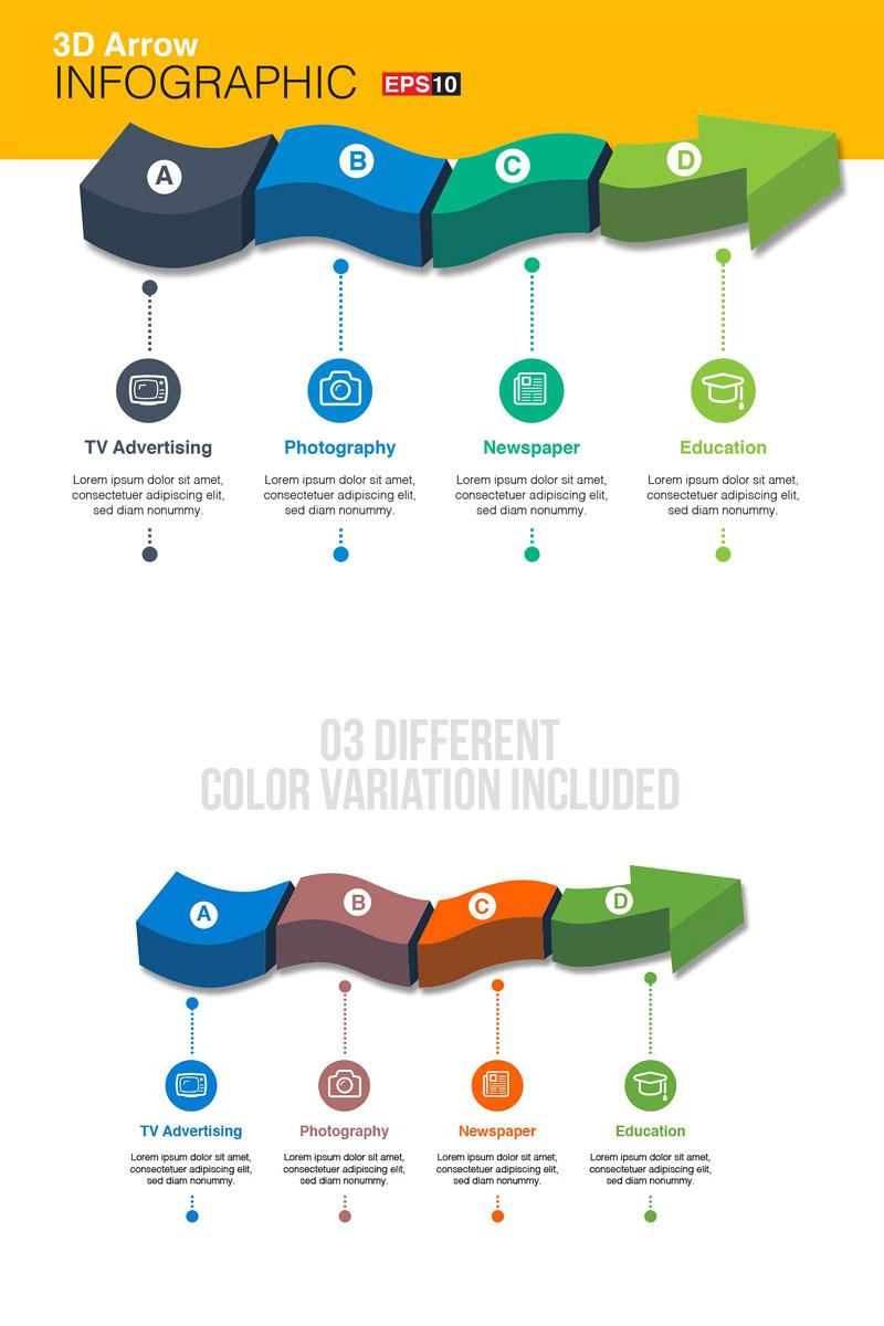 3d vector arrow infographic elements  75788