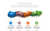 3D Vector Arrow Infographic Elements