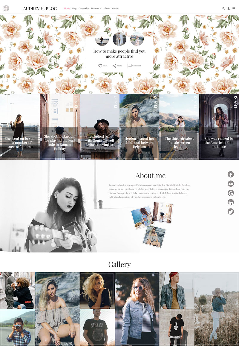 Адаптивный шаблон сайта на тему дизайн и фотография #65472