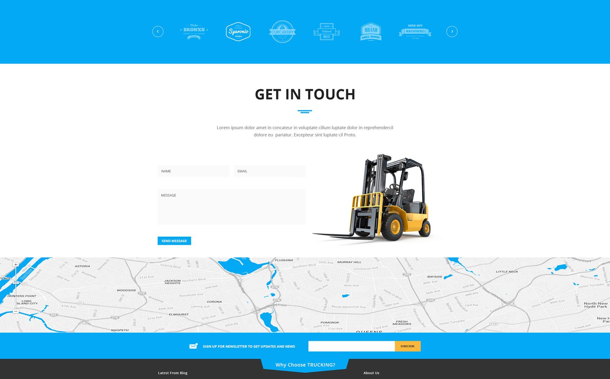 Logistic & Transportation - Bootstrap Website Template #65767