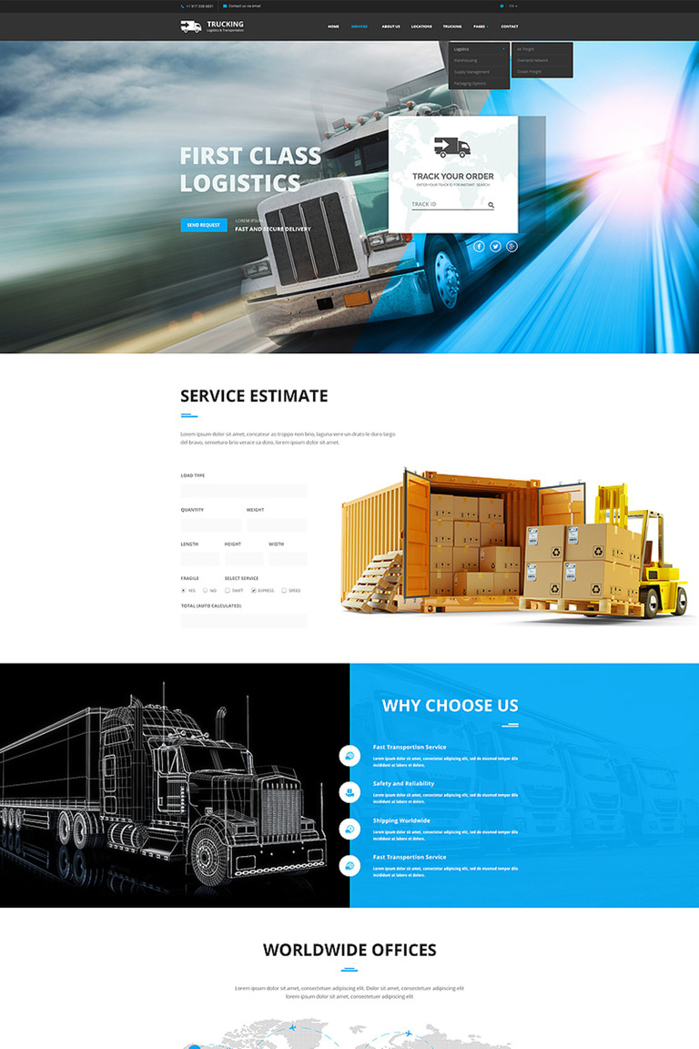Logistic transportation bootstrap website template 65767 logistic transportation bootstrap website template big screenshot pronofoot35fo Image collections