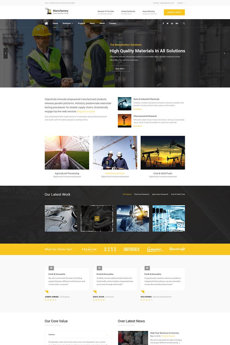 Адаптивный шаблон сайта на тему строительные компании #65877