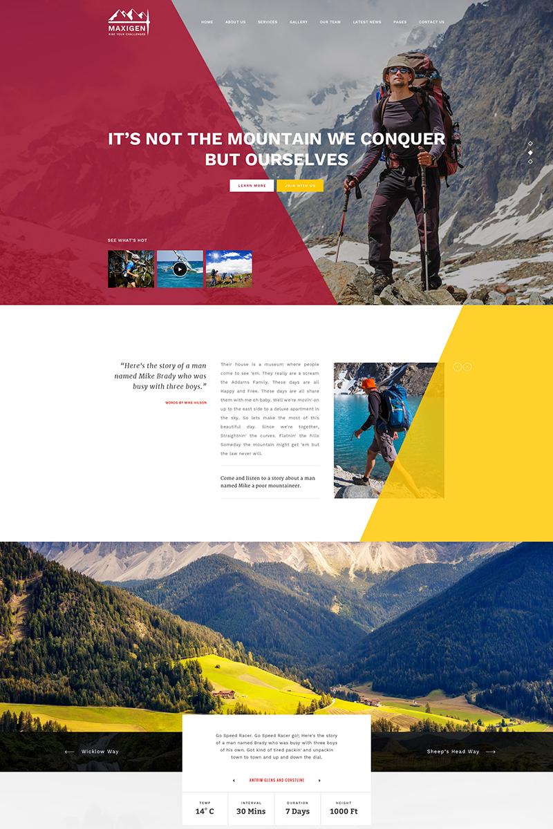 Адаптивный шаблон сайта на тему альпинизм #65768