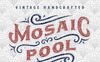 Mosaic Pool Typeface Font Big Screenshot