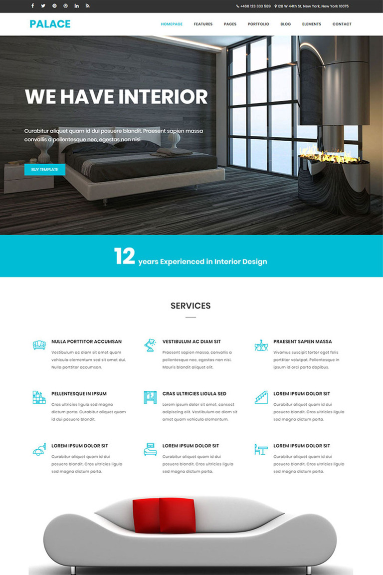 palace interior architecture html5 bootstrap website template 65644