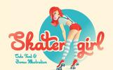 """Skater Girl font + Bonus"" police de caractère"