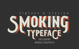 Smoking Typeface + Illustration Betűtípus