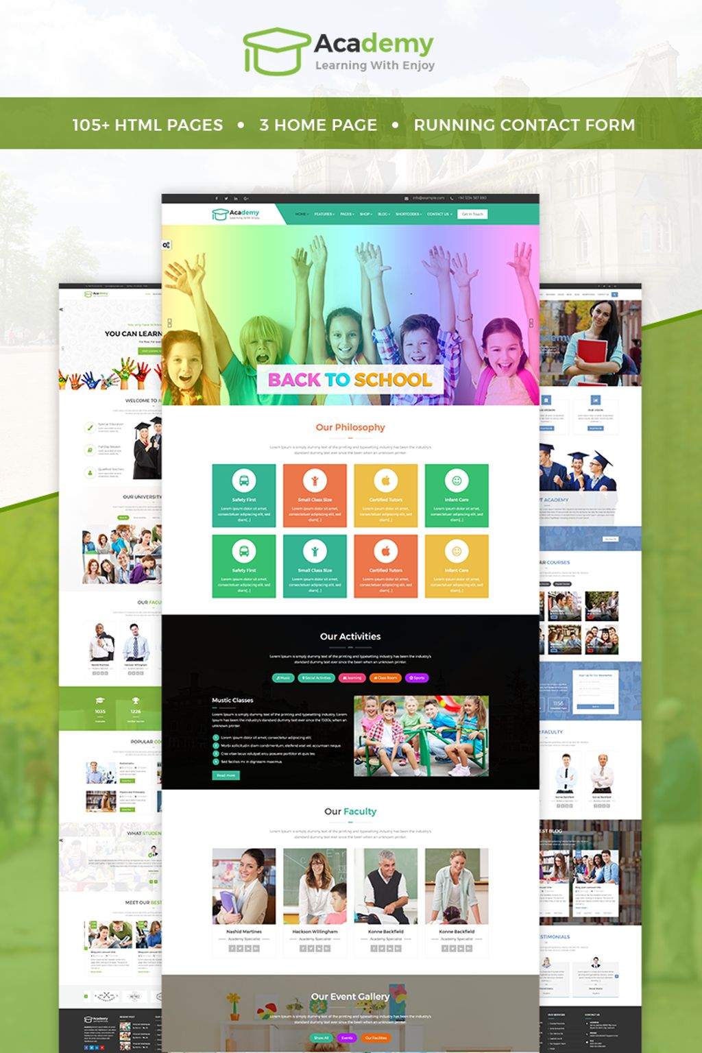 Academy - Education, Learning Courses & Institute Website Template ...
