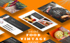 """Food Vintage"" PowerPoint 模板 大的屏幕截图"