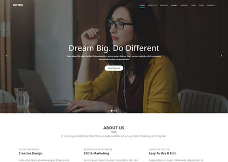 Rictor - Responsive HTML5 Business & Agency