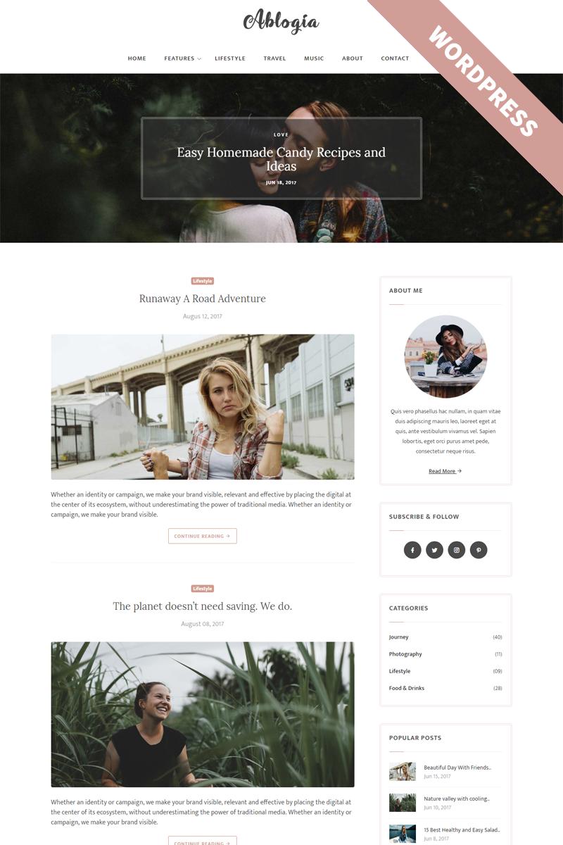 Адаптивный шаблон сайта на тему блог о моде #65466