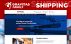 """Gravitas - Shipping MotoCMS 3"" modèle  de page d'atterrissage adaptatif New Screenshots BIG"