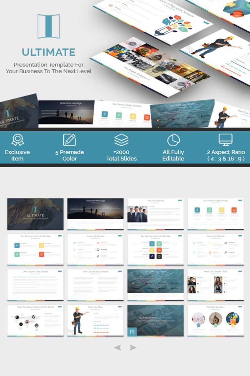 Ultimate - Presentation PowerPoint Template #65545