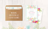Floral Wedding 13 Cards Set Corporate Identity Template