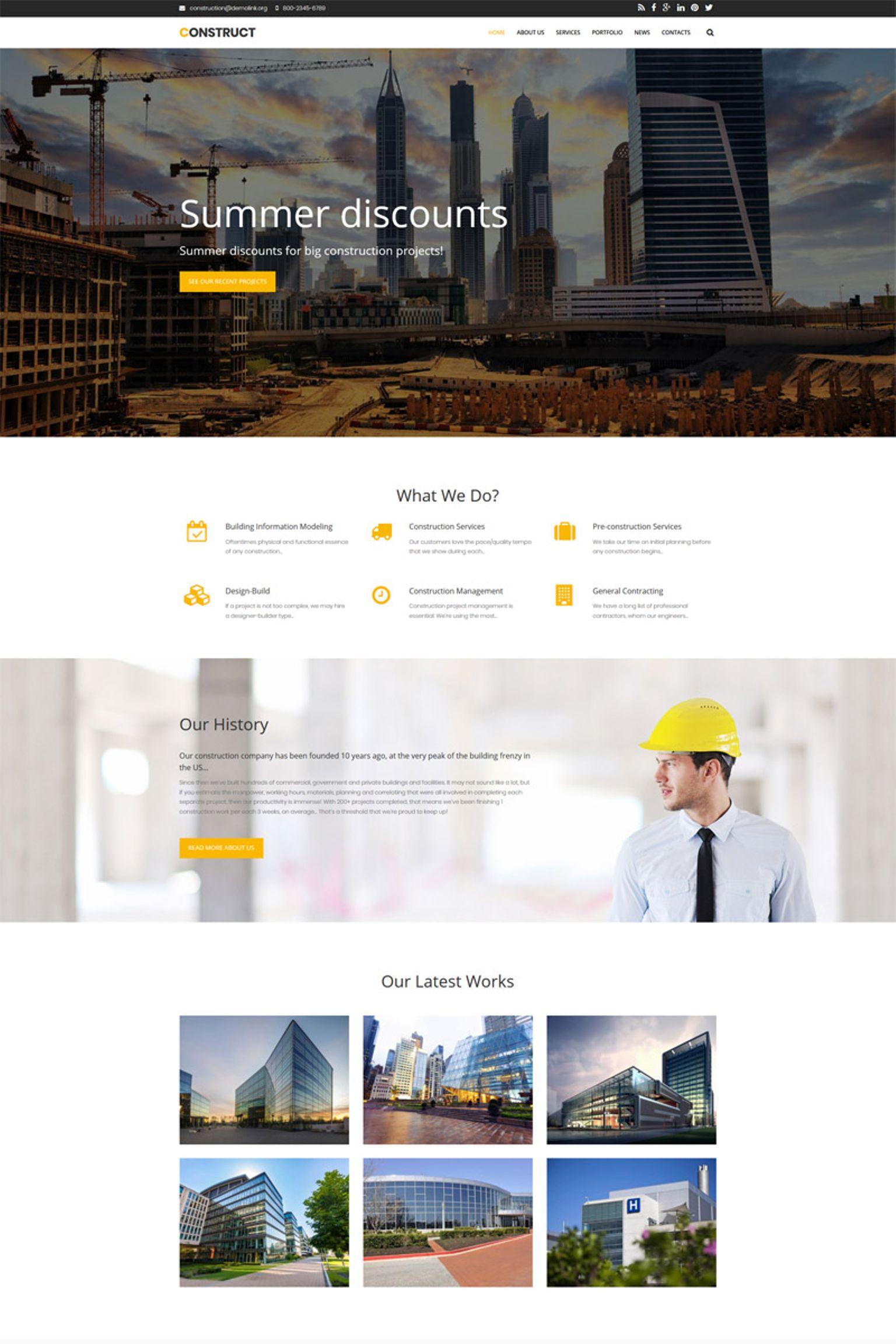 Construct - Construction Premium Drupal Template