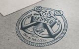 Skipper Anchor Logo Template