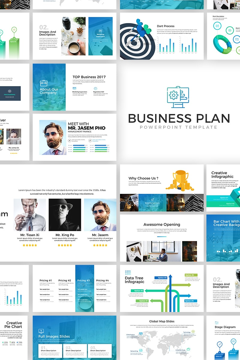 Business plan powerpoint template 65509 friedricerecipe Images