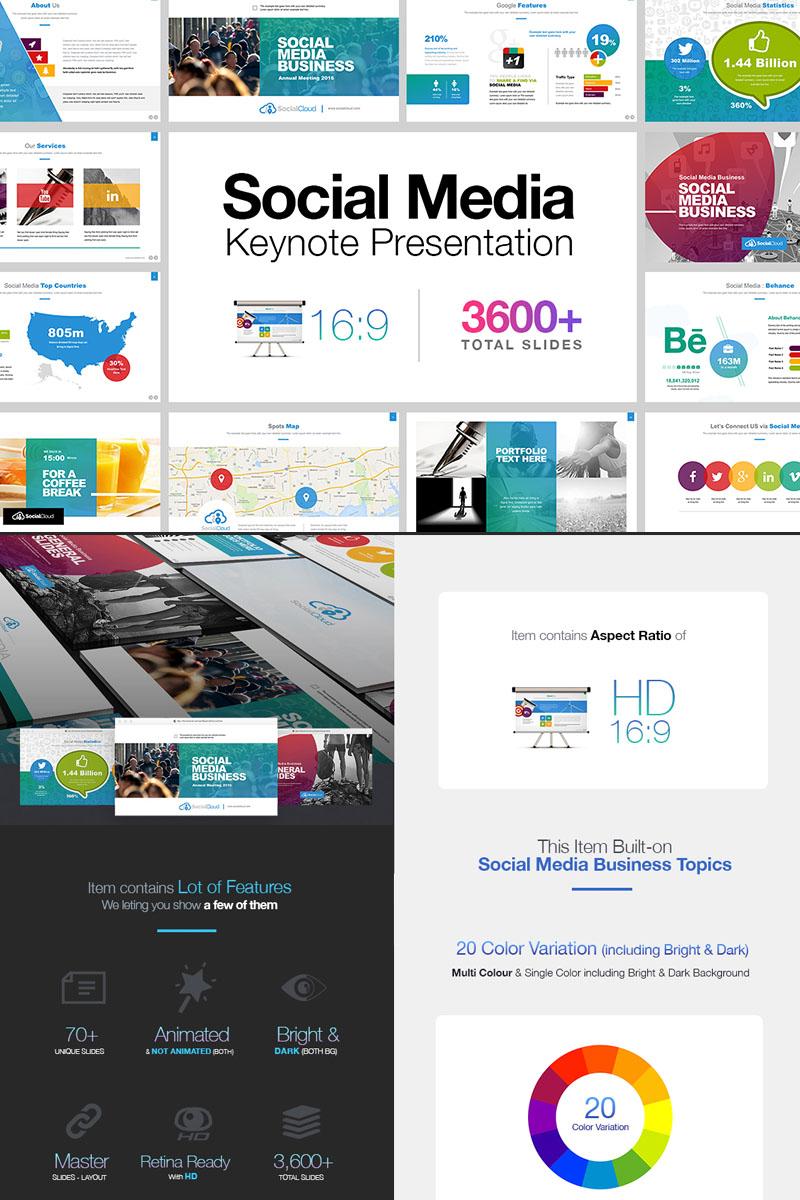 social media presentation keynote template 65539