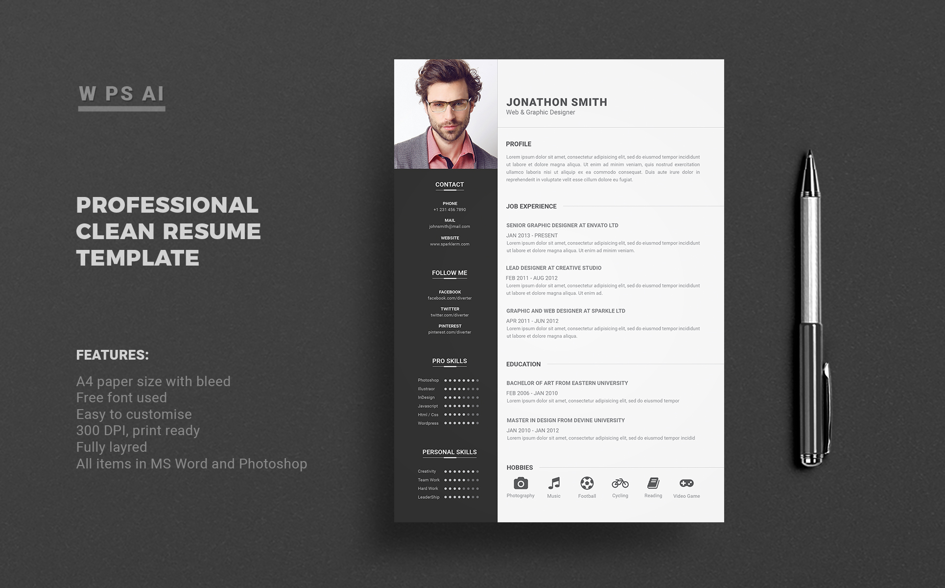 Jonathan Smith Resume Template 65429
