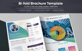 Maxab Bi-fold Brochure Corporate Identity Template