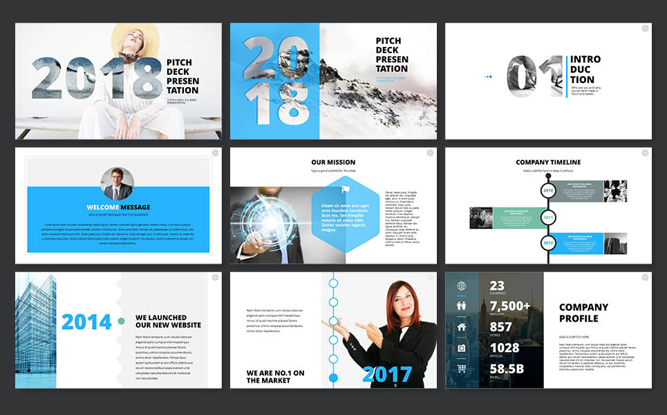 2018 pitch deck powerpoint template 65606 2018 pitch deck powerpoint template big screenshot flashek Image collections