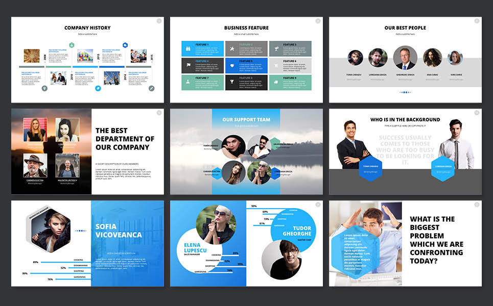 2018 Pitch Deck PowerPoint Template #65606