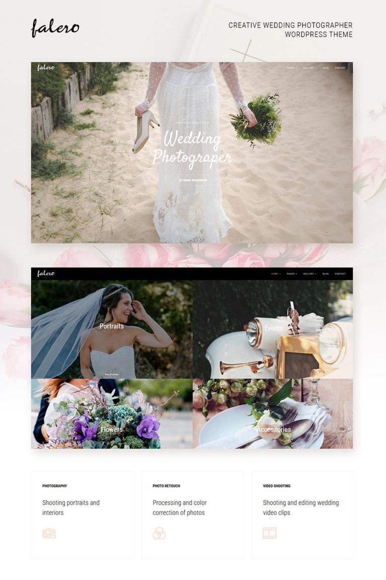 Falero Wedding Photographer WordPress Theme Big Screenshot