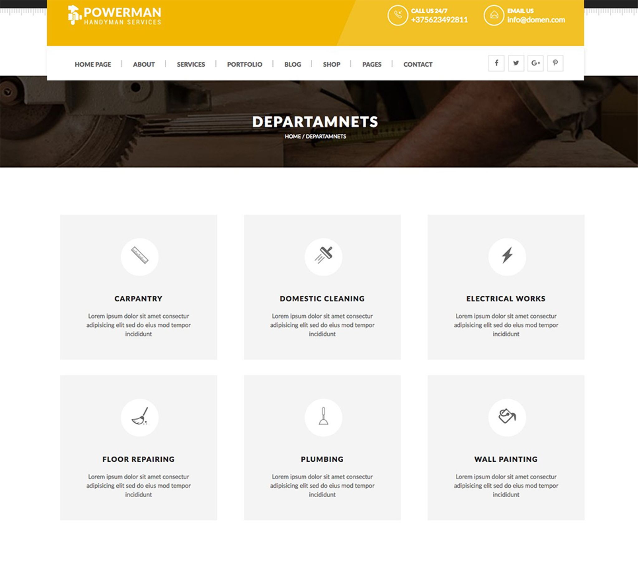 powerman handyman services wordpress theme 65725