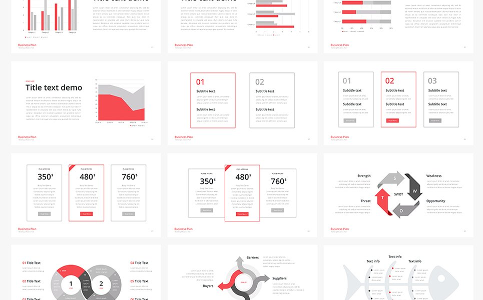 Business Plan Multipurpose Keynote Template - Keynote business plan template