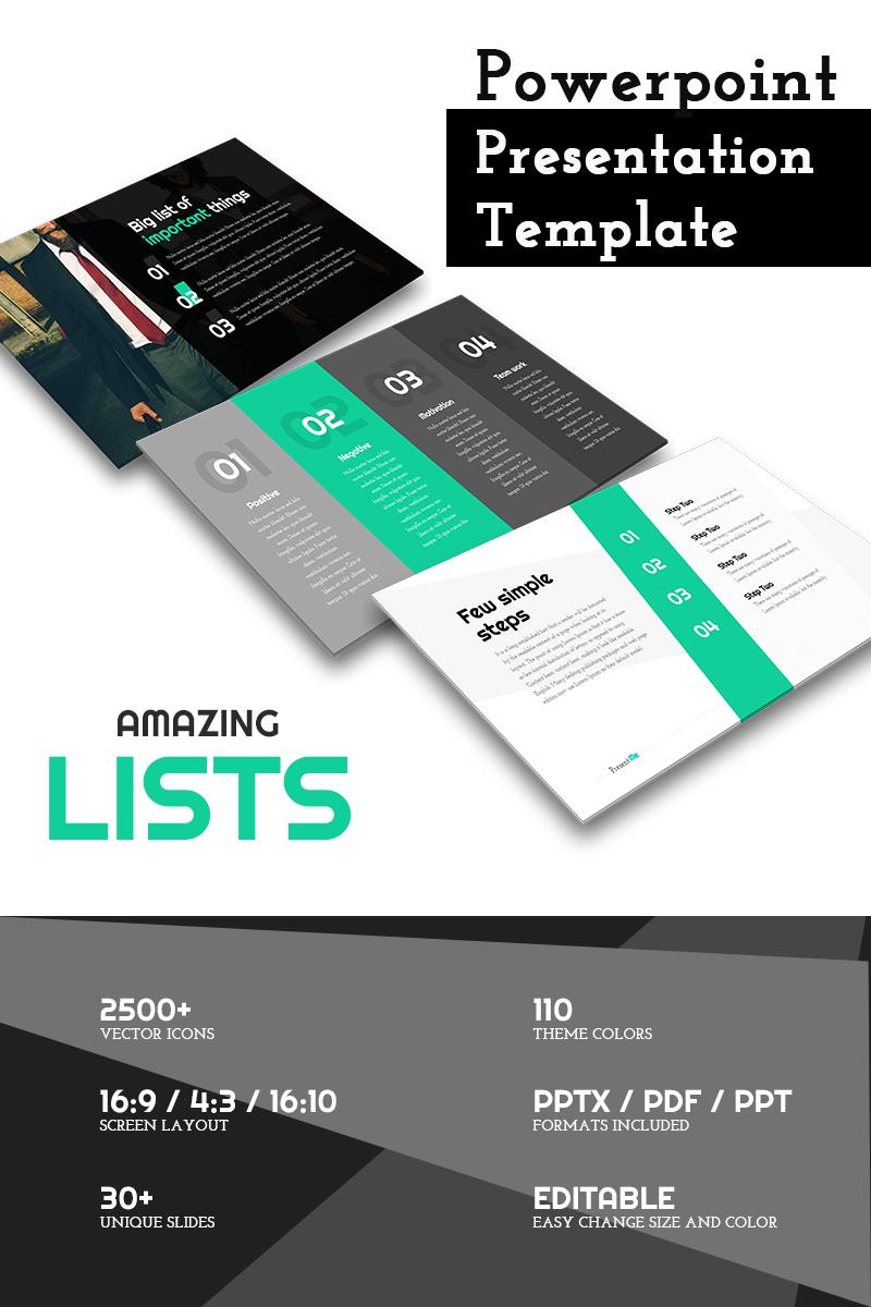 Modèle PowerPoint #65642 pour site de portfolio de designer