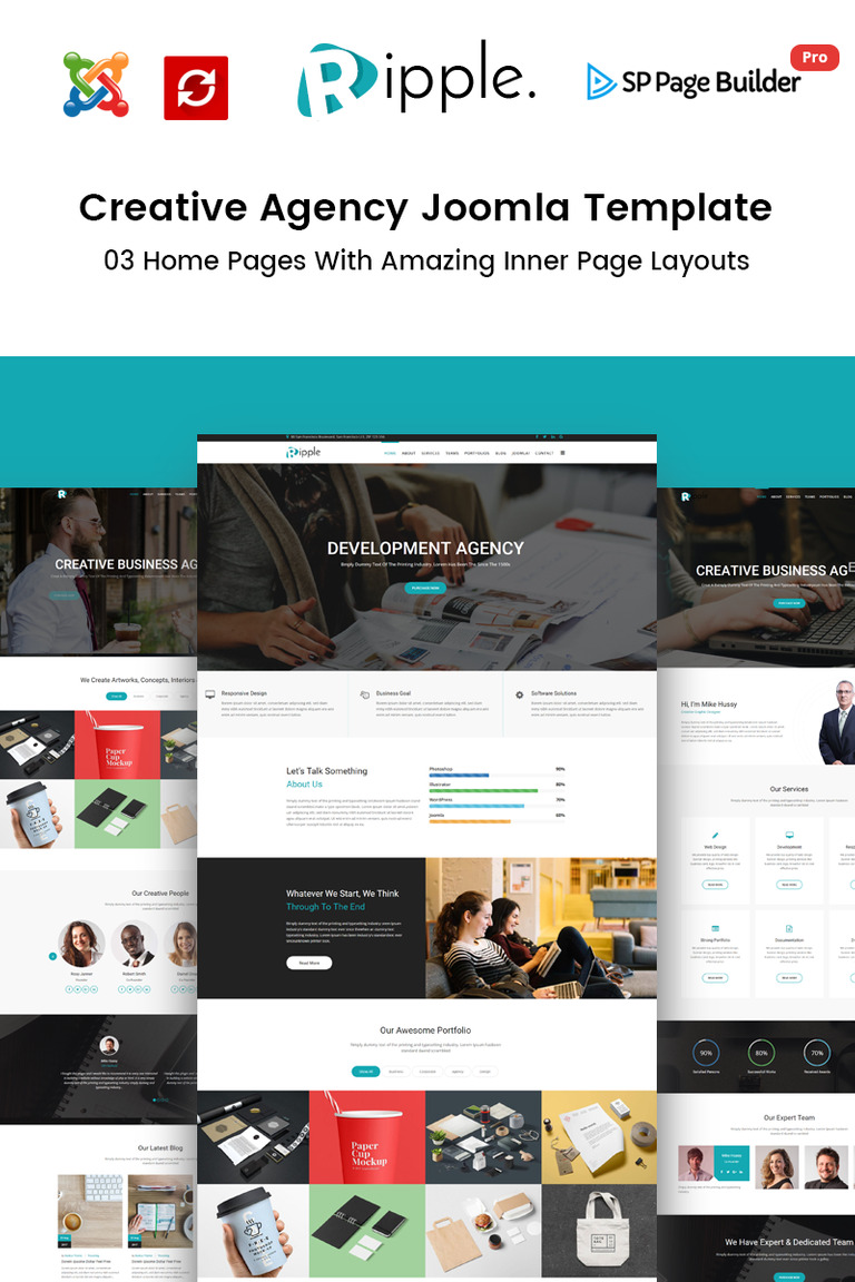 Ripple – Creative Agency Joomla Template #65652