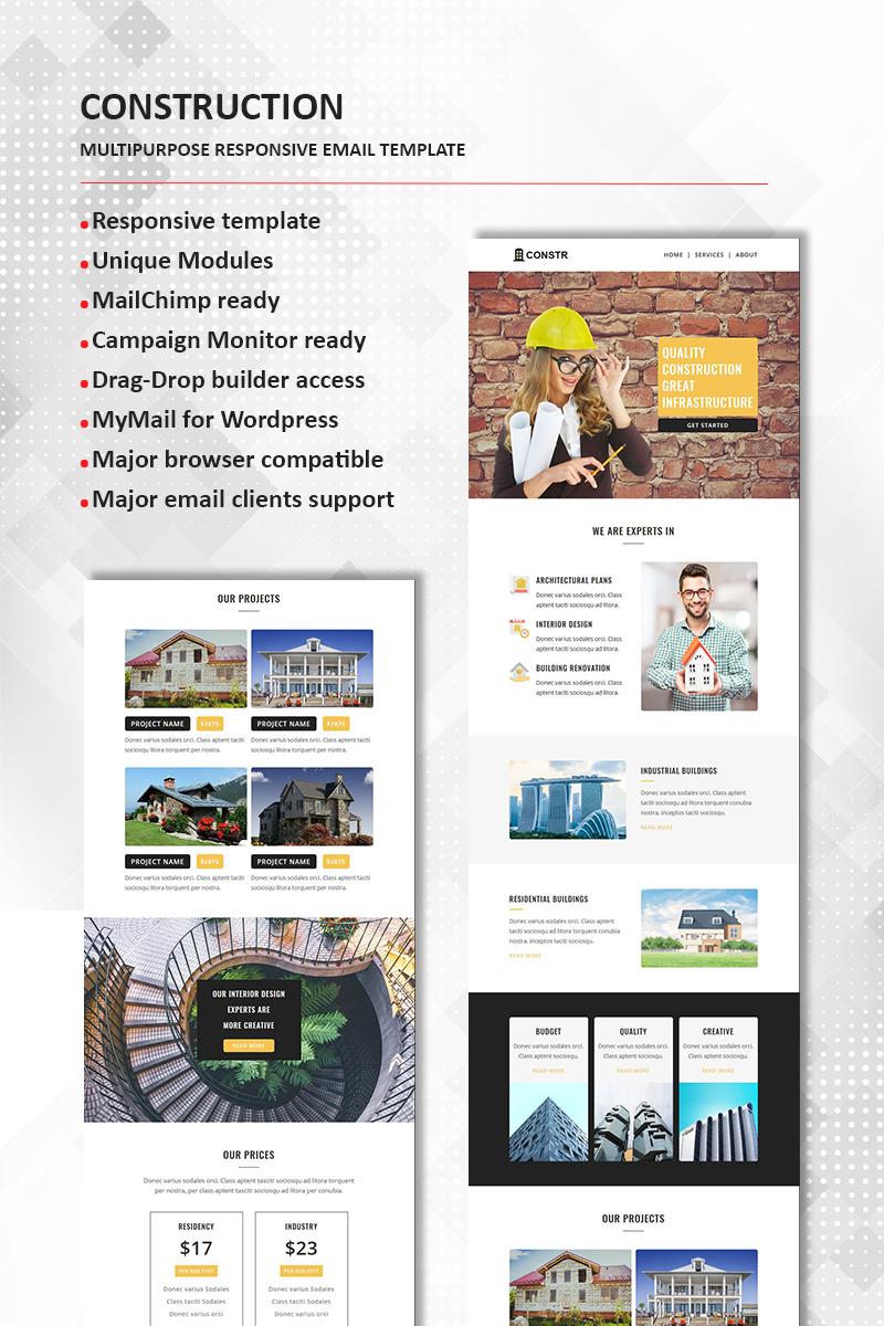 Construction Multipurpose Responsive Newsletter Template - Multi page newsletter templates